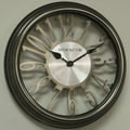Ashton Sutton Classic 16'' Wall Clock; Silver