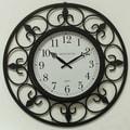 Ashton Sutton Indoor/Outdoor Oversized 24'' Wall Clock