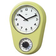 Bai Design 8.5'' Kitchen Timer Retro Modern Wall Clock; Chartreuse