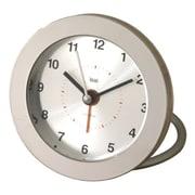 Bai Design Diecast Round Travel Alarm Clock in Silver