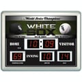Team Sports America MLB Scoreboard Thermometer Wall Clock; Chicago White Sox
