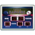 Team Sports America MLB Scoreboard Thermometer Wall Clock; Texas Rangers