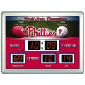 Team Sports America MLB Scoreboard Thermometer Wall Clock; Phil Phillies