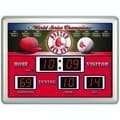 Team Sports America MLB Scoreboard Thermometer Wall Clock; Boston Red Sox