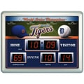 Team Sports America MLB Scoreboard Thermometer Wall Clock; Detroit Tigers