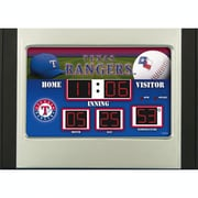 Team Sports America MLB Scoreboard Desk Clock; Texas Rangers