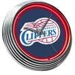 On The Edge Marketing NBA 15'' Neon Wall Clock; Los Angeles Clippers
