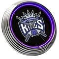 On The Edge Marketing NBA 15'' Neon Wall Clock; Sacramento Kings