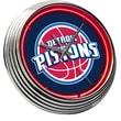 On The Edge Marketing NBA 15'' Neon Wall Clock; Detroit Pistons - Blue