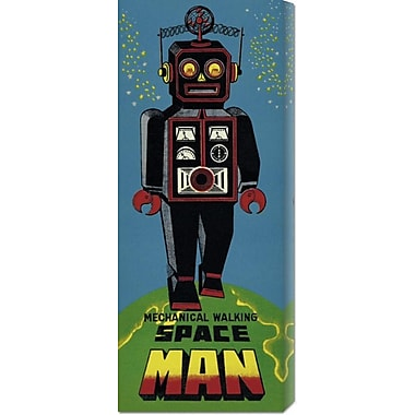 Global Gallery 'Mechanical Walking Spaceman' by Retrobot Vintage Advertisement on Wrapped Canvas