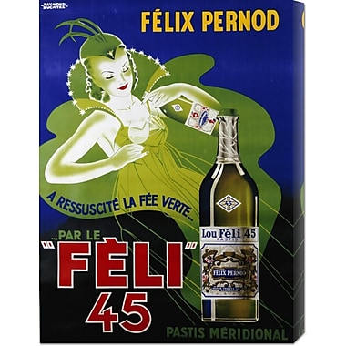 Global Gallery 'Feli 45' by Raymond Ducatez Vintage Advertisement on Wrapped Canvas
