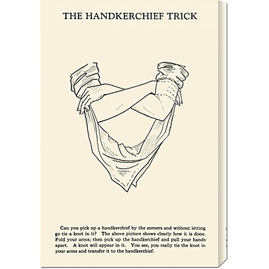 Global Gallery 'The Hankerchief Trick' by Retromagic Vintage Advertisement on Wrapped Canvas