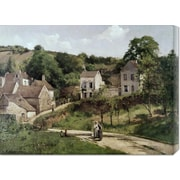 Global Gallery 'Country Road' by Camille Pissarro Painting Print on Canvas