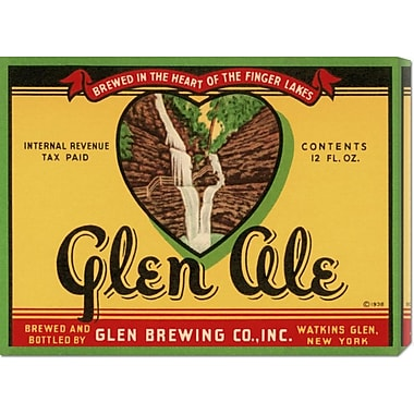 Global Gallery 'Glen Ale' by Retrolabel Vintage Advertisement on Wrapped Canvas