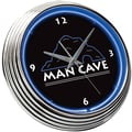 On The Edge Marketing 15'' Man Cave Neon Wall Clock