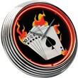 On The Edge Marketing Poker 14.75'' Neon Wall Clock