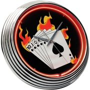 On The Edge Marketing Poker 14.75'' Neon Wall Clock