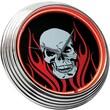 On The Edge Marketing Skull 14.75'' Neon Wall Clock