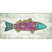 Vintage Signs Funky Fish 4 Wall Art by Suzanne Nicoll Painting Print Plaque