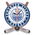 Wincraft NHL Plaque Wall Clock; Edmonton Oilers
