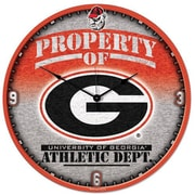 Wincraft Collegiate 18'' NCAA High Def Wall Clock; Georgia