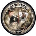 Wincraft NFL 12.75'' Wall Clock; New Orleans Saints - Drew Brees