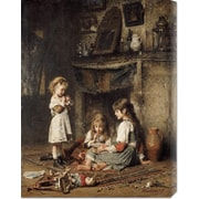 Global Gallery 'Blowing Bubbles' by Alexei Alexeiewitsch Harlamoff Painting Print on Canvas