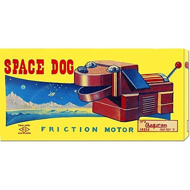 Global Gallery 'Space Dog' by Retrobot Vintage Advertisement on Wrapped Canvas