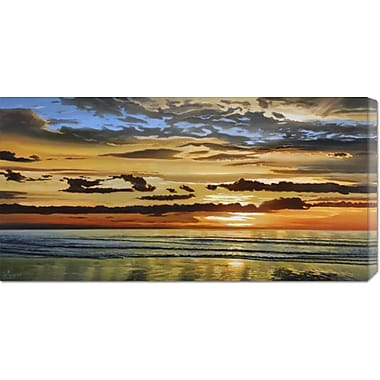 Global Gallery 'Alba Sul Mare' by Adriano Galasso Painting Print on Wrapped Canvas