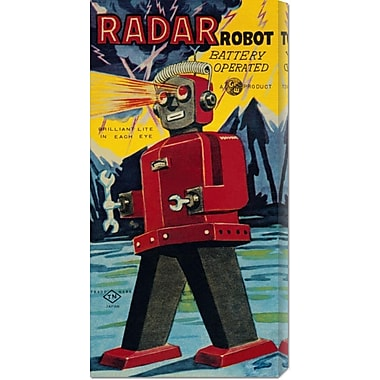 Global Gallery 'Radar Robot' by Retrobot Vintage Advertisement on Wrapped Canvas