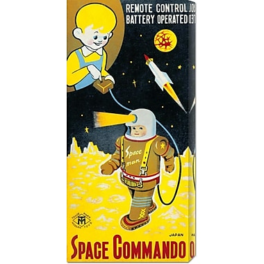 Global Gallery 'Space Commando' by Retrobot Vintage Advertisement on Wrapped Canvas