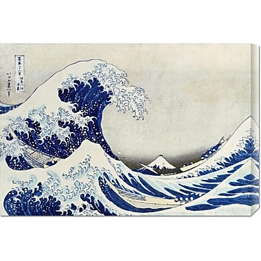 Global Gallery 'The Great Wave of Kanagawa' by Hokusai Painting Print on Wrapped Canvas
