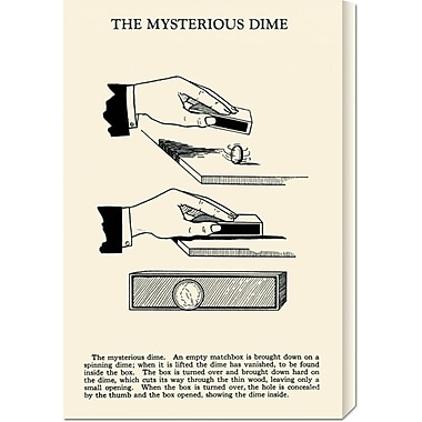 Global Gallery 'The Mysterious Dime' by Retromagic Vintage Advertisement on Wrapped Canvas