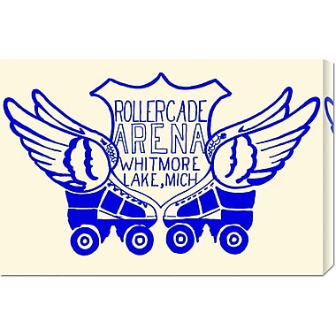 Global Gallery 'Rollercade Arena' by RetroRollers Vintage Advertisement on Wrapped Canvas