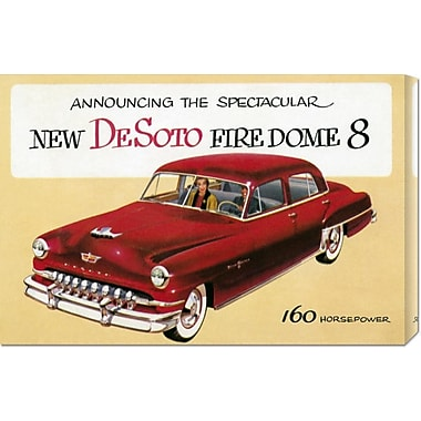 Global Gallery 'New DeSoto Firedome 8' by Retro Travel Vintage Advertisement on Wrapped Canvas