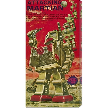 Global Gallery 'Attacking Martian' by Retrobot Vintage Advertisement on Wrapped Canvas