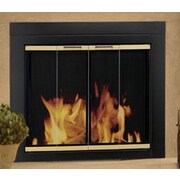 Pleasant Hearth Arrington Fireplace Screen and Bi-Fold Track-Free Glass Door; Small