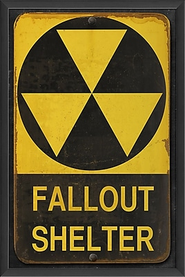 The Artwork Factory Fallout Shelter Framed Graphic
