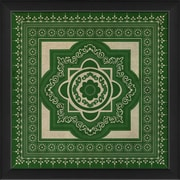 The Artwork Factory Tile 6 Framed Graphic Art; Green