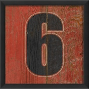 The Artwork Factory Number Six Framed Textual Art