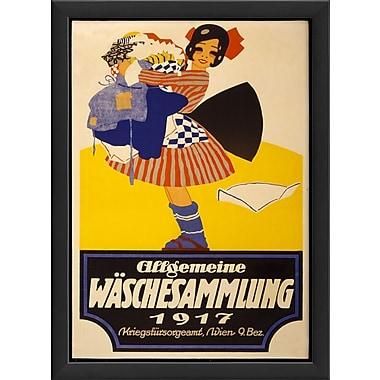 The Artwork Factory Allgemeine Waschesammlung Framed Vintage Advertisement