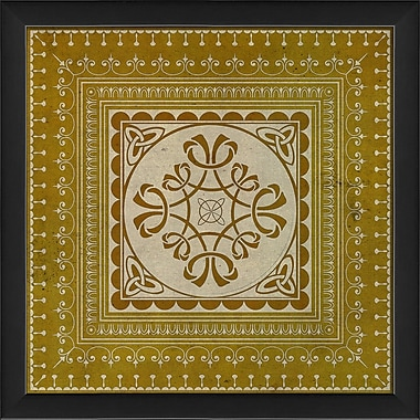 The Artwork Factory Tile 5 Framed Graphic Art; Yellow