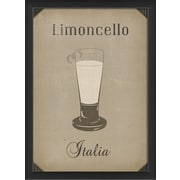 The Artwork Factory European Drinks Limoncello Framed Vintage Advertisement