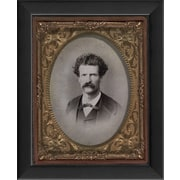 The Artwork Factory Tintype Photographs Samuel Clemens Aka Mark Twain Framed Photographic Print
