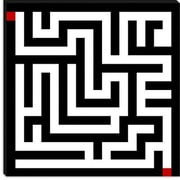 iCanvas Modern Art Labyrinth Graphic Art on Canvas; 37'' H x 37'' W x 0.75'' D