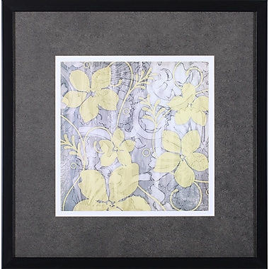 Art Effects Yellow and Gray II by Jennifer Goldberger Framed Graphic Art