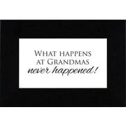 Artistic Reflections What Happens At Grandmas Textual Print Art