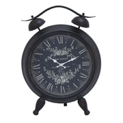Woodland Imports Table Clock with Roman Numerals