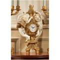 Design Toscano The Cherub's Harvest Clock in Ivory and Antiqued Faux Gold