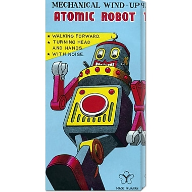 Global Gallery 'Mechanical Wind-Up Atomic Robot' by Retrobot Vintage Advertisement on Wrapped Canvas
